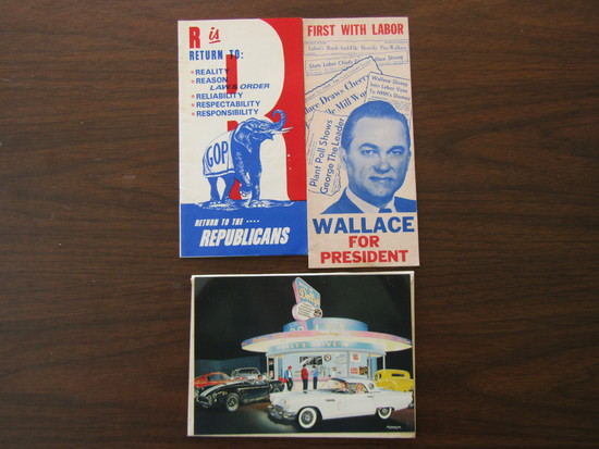 Lot of 3 Publications, Return to the Republicans, Wallace for President, Dolly's Dinner Post card
