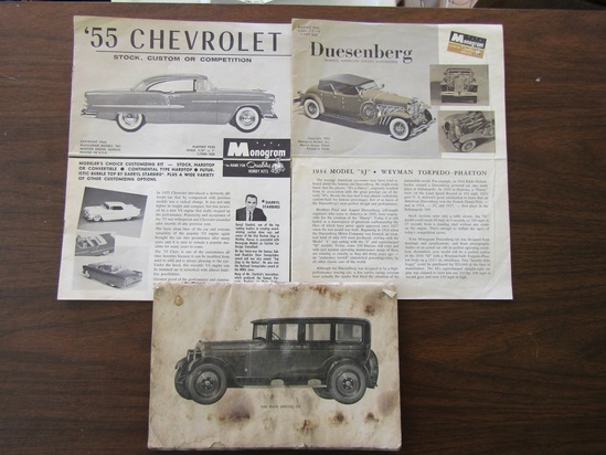Lot of 3 Publications, Nash Special Six, 55 Chevrolet, Duesenberg