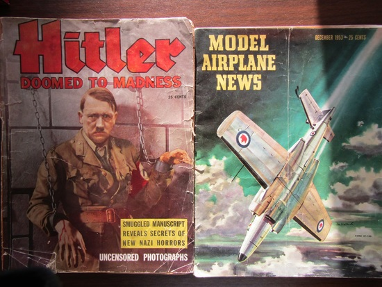 Lot of 2 Publications, 1953 Model Airplane News and Hitler 1940 Copywright
