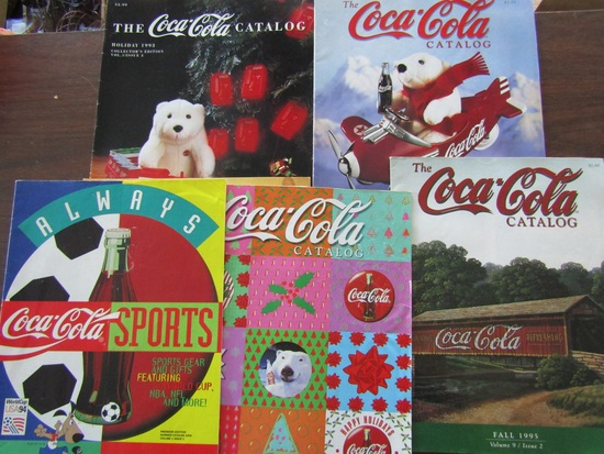 Lot of Coca Cola Catalogs, 1993-94, 1995