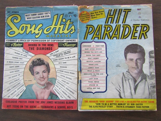 Lot of 2 Publications, 1957 Song Hits and 1961 Hit Parade