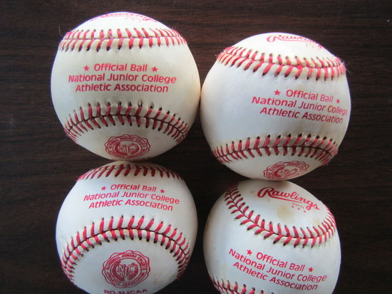 Lot of 4 Rawlings Official Ball, National Junior College Athletic Association
