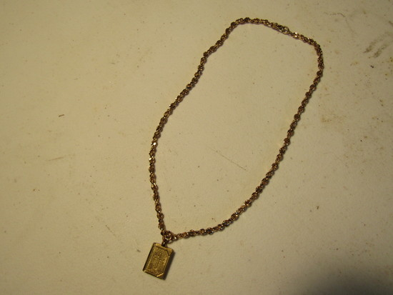 Vintage Necklace with Bible Pendent