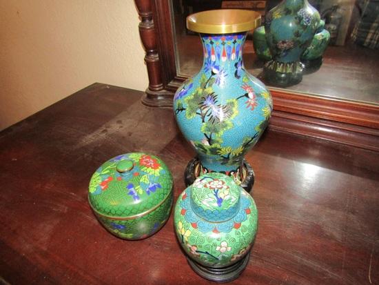 Lot of 3 Asian Design décor
