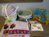Holidays Lot, Baskets, Cards, Towels, Fisher Price