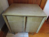 Vintage Night Stand matches Dresser in Lot 387, dove tail