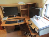 Computer Desk, Gateway Tower, Monitor, HP Printer