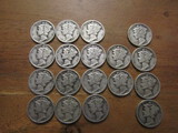 Lot of 18 Silver Dimes, 1935 and 1936