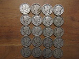 Lot of 20 Silver Dimes, 1941