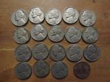 Lot of 19 Silver Nickels, 1- 1937 Buffalo