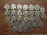 Lot of 29 Silver Dimes, 1960-1961