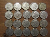 Lot of 20 Silver Dimes, 1962