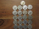 Lot of 21 Silver Dimes 1962-1964