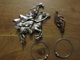 Lot of 3 Vintage Jewelry, Copper Brooch