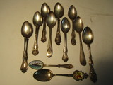 Lot of 11 Sterling Spoons