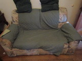 Love Seat, brown