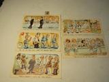 Vintage Postcards and 5 cent Stamp