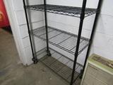Metal Adjustable Shelfing Unit on Wheels