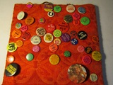 Vintage Button Collection on Display board
