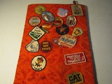 Vintage Patch Collection on Display board