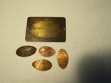 Vintage Stamped Coins, Wells Fargo, 1934 Worlds Fair