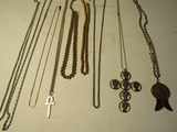 Lot of 9 Necklaces, Monet, Sterling Pendent