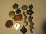 Lot of 12, Pendents, Pocket Screwdrivers, Bottle Openers