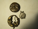 Lot of 3 Buckles and Pendent
