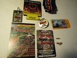 Lot of 9 Car Collectibles, Pins, Tie, 421 Pins