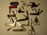 Lot of 12 Knives and Scissors