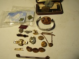 Jewelry, Buttons, Tie Clips, Carved Pin