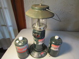 Coleman Propane Lantern and 2 new Fuel Cans