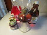Lot of 4, Yankee Candle and Oil Lamp with Fuel