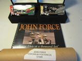Lot of 4 2 John Force Cars, 1 Book, 4 Chromium Posters