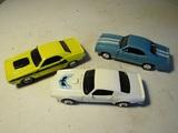 Lot of 3 Die Cast '70 Challenger, '73 Firebird, '69 Camero Z28