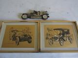 Lot of 3 Car Décor, Rolls Royce, '15 Model T Ford