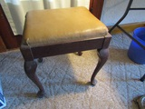 Sewing Stool with Sewing items
