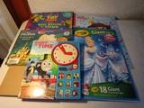 Lot of 6 Big Color/Sticker Books, Thomas Train, Disney