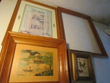 Lot of 4 Pictures and Frame, Jack Pellow, Nesa Tribit