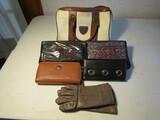 Lot of 6 Purse, Wallets, Gloves