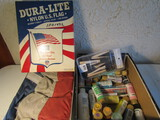 Lot of 2 U.S. Flag and Painting Supplies