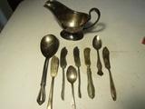 Lot of 9 Rogers, Meriden Silver Co., Cuevee Silver Wares