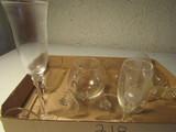 Lot of 10 Stem Glasses