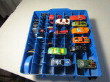 Lot of 25 HotWheels Cars with Case