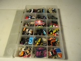 Large Lot of Mini Cars in Case