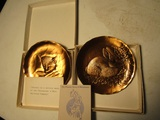 Lot of 2 Wendell August Bronze, Chessie and Bunny