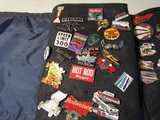 Large Collection of Pins, Auto, Hemi, Edelbrock, Guns, in Case