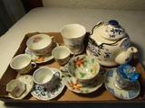 Lot of 9 Teacups, Orion China Occupied Japan
