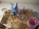 Lot of Vases, Cranberry, Telaflora, Decanter