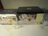Lot of 2 Glass Sets, 9 Goblets, 8 Pub Glasses with original Boxes